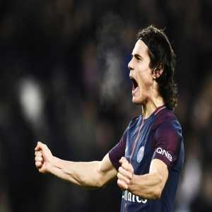 Edinson Cavani is now the joint all-time top scorer for PSG, equalled with Ibrahimovic. (tweet is in French)