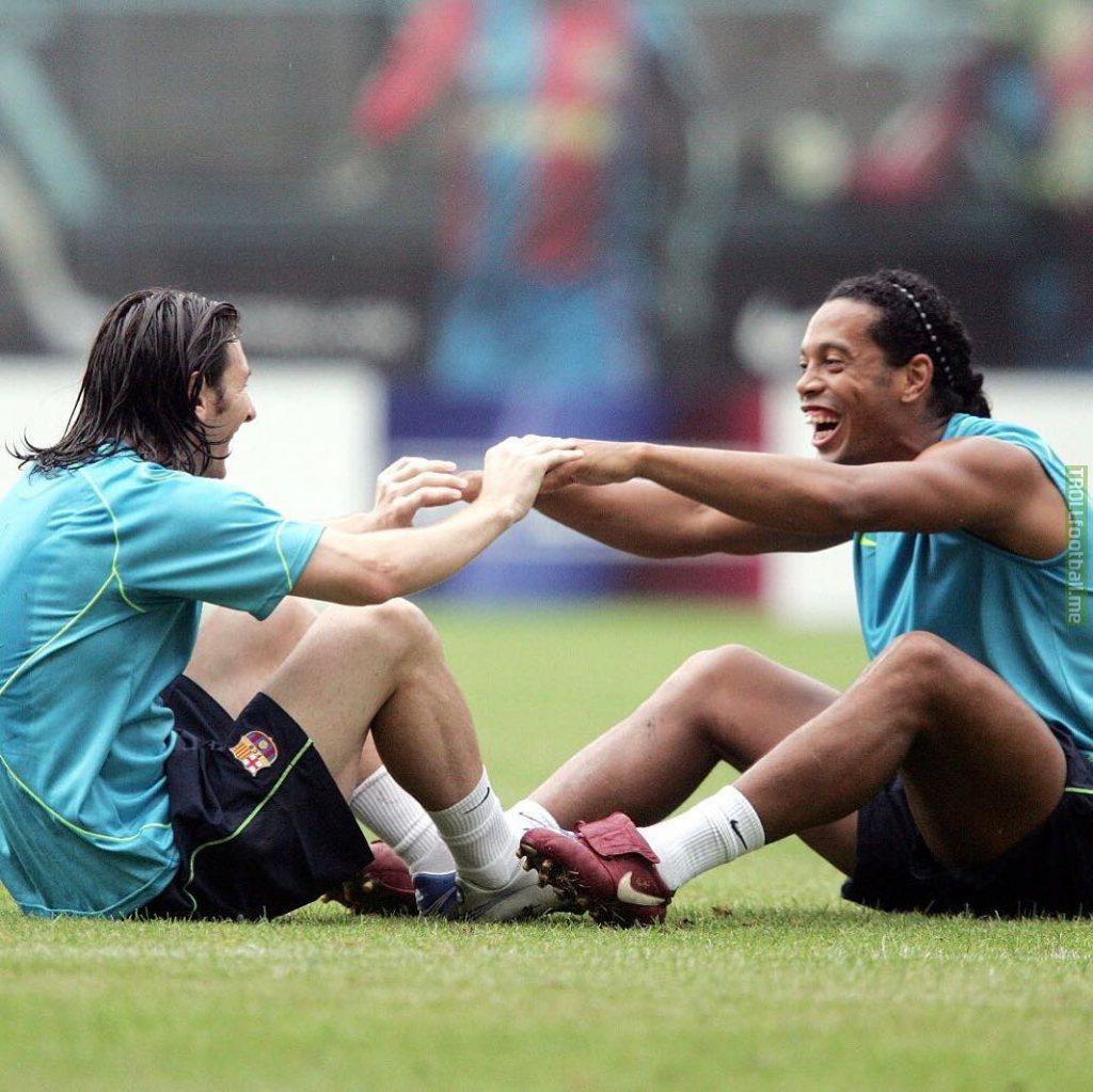 Messi's message to Ronaldinho