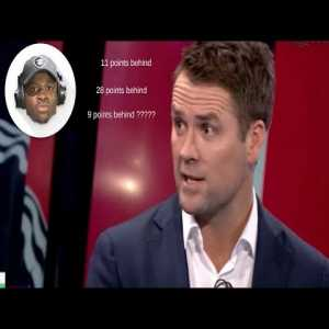Micheal Owen gets all his numbers wrong when calculating the points difference between Arsenal & City, Man United & 4th Spot