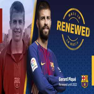 Piqué agrees to a new contract at Barcelona till 2022