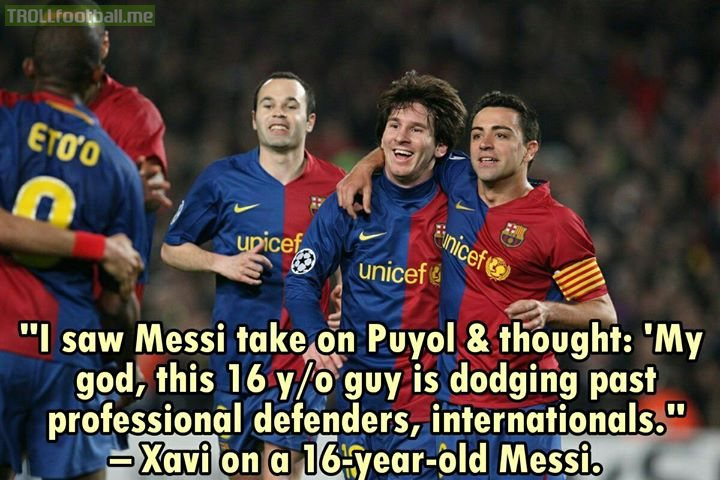Xavi on Messi