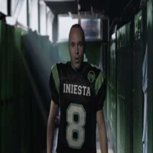 Iniesta attempting American Eggball.