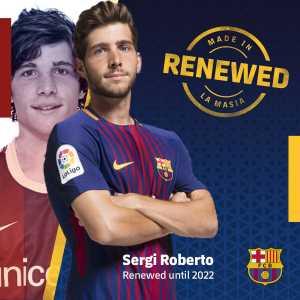 Sergi Roberto renews with Barcelona