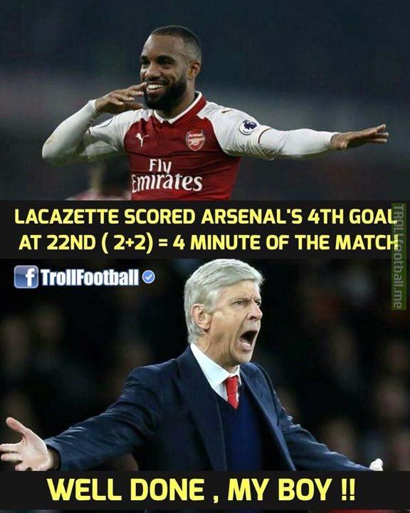 Wenger Be Like 😎