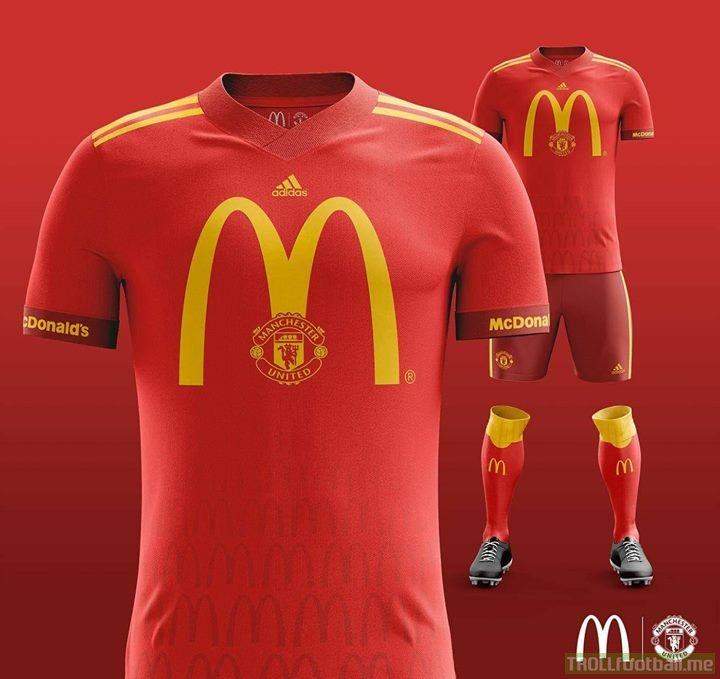 Imagine McDonald's sponsored Manchester United 😂