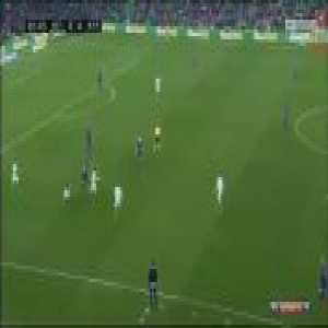 Real Betis fans cheering for Messi after an audacious dribble