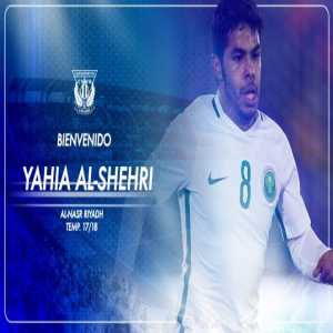 Saudi midfielder Yahia Al-Shehri sign for C.D Leganes on loan.