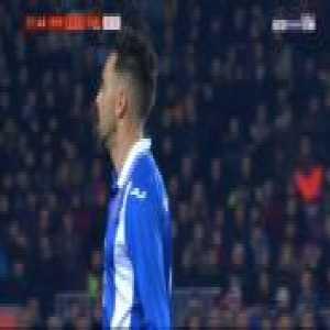 Sergio Garcia (Espanyol) foul on Luis Suarez - Yellow card