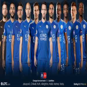 Leicester City line up vs Peterborough.