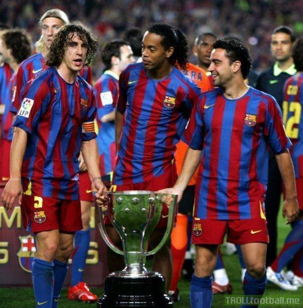 """For years we didn't win anything at Barcelona, then Ronaldinho arrived. He's the most important player in our history."" – Carles Puyol"