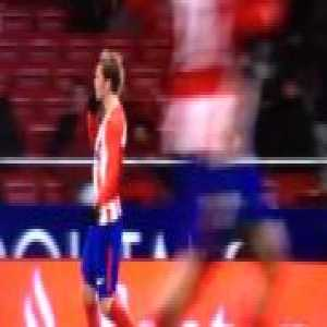 Antoine Griezmann having a spat with the Atletico fans in the Metropolitano during their game against Valencia.