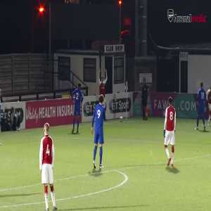 Arsenal's Eddie nketiah completes his hattrick against Everton in U-23 after finishing a classic WengerBall move.
