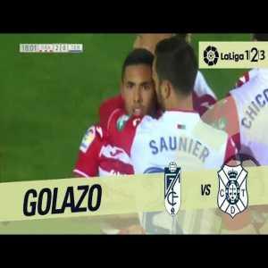 Granada's second goal against Tenerife on 03/Feb/2018 (Spain's 2nd Division)