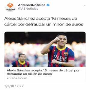 El Chirincirco TV, a program in Spain, points out the fact that players facing legal issues that are ex-Barca are pictured with Barca shirts. However, ex-Madrid players with the same issue are pictured with their current teams kit.