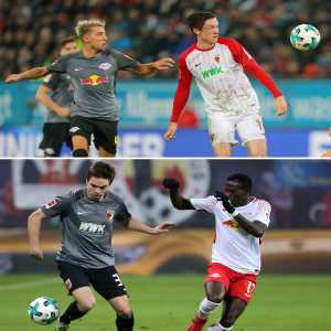 RB Leipzig and Augsburg have matching home kits and away kits