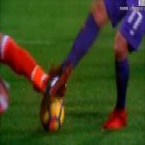 Buffon great tackle save Against Fiorentina