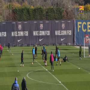 Messi's ball flick, spin volley in training