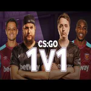 West Ham's Chicharito and Antonio in CS:GO 1v1