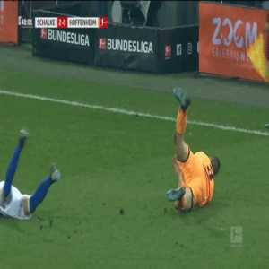 Linesman in Schalke-Hoffenheim match injures his ankle, is replaced by the 4th official