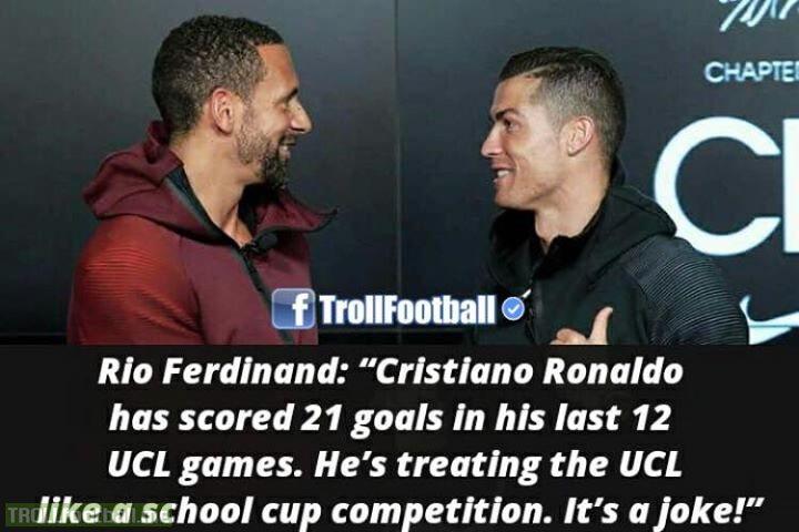 Rio Ferdinand On Cristiano Ronaldo