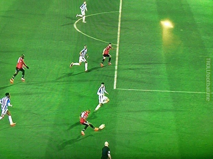 This was offside according to VAR.