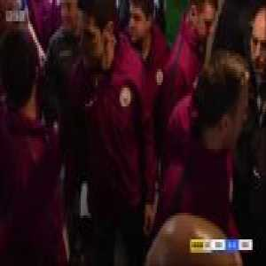 Man City led by Guardiola, get into a Halftime Tunnel skirmish with Wigan staff & players