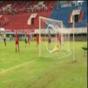 Player beat ball boy after he celebrates a goal in Brazil, Operário x Comercial.