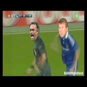 As we prepare for Barca vs. Chelsea, enjoy this throwback: Ballistic Ballack vs Benny Hill
