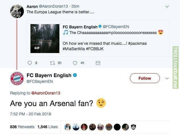 Bayern had time to destroy Arsenal even though they aren't in the Champions League this year.