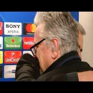 Jose Mourinho post match interview (asks BT Sport's Des Kelly for a hug)