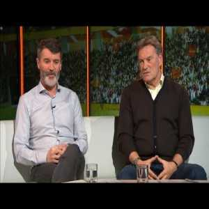 Mark Pougatch with Roy Keane and Glenn Hoddle's talk about some mistakes Arsenal players and Arsene Wenger and tactical analysis of the game: Arsenal 1 Oestersunds FK 2