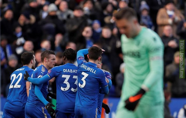 Agony and ecstacy... Leicester City Football Club hit back to deny Stoke City Football Club as Saturday's 1st match ends 1-1