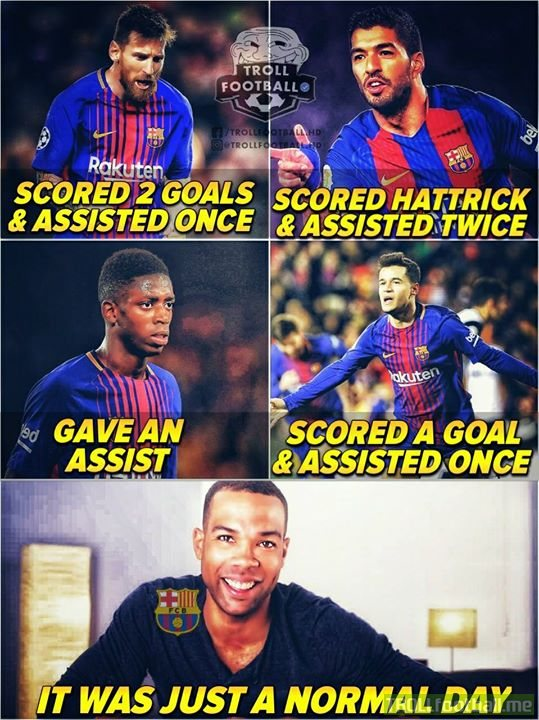 Barca winning La Liga matches is a common thing 😉