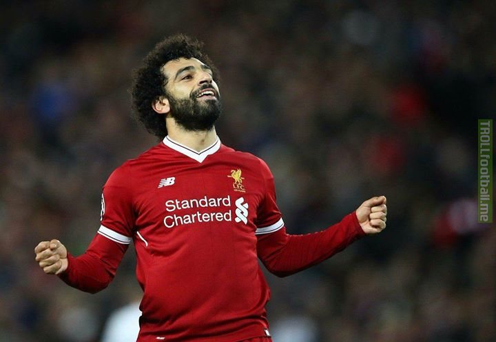 Mohamed Salah has scored as many goals as Luis Suarez did in his best season for Liverpool (31). It's February.