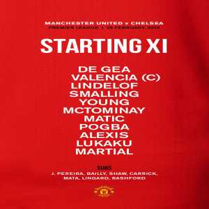 Pogba and Martial start Vs Chelsea in a 433 formation
