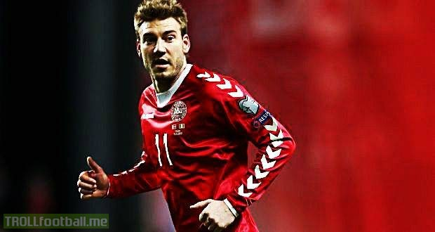 🇨🇳 Chinese club Beijing Guoan want to sign Nicklas Bendtner and make him the world's highest earning Dane ahead of Christian Eriksen... 💰 The Lord. The Great Dane finally getting the respect he deserves.