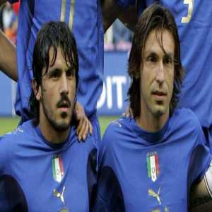 """""""You see Pirlo, honestly he's a son of a bitch. One day I left my phone on the table and he sent a text to Milan's Vice President offering him my sister."""" - Gennaro Gattuso"""