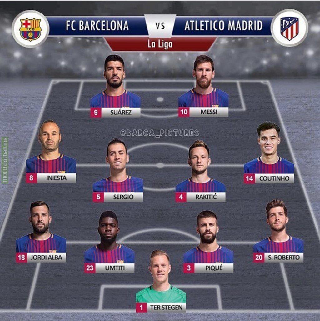 Barcelona starting XI vs Atlético Madrid  384f03fdaa0d3