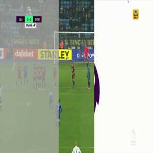 Best replay of Riyad Mahrez 96th minute free kick.