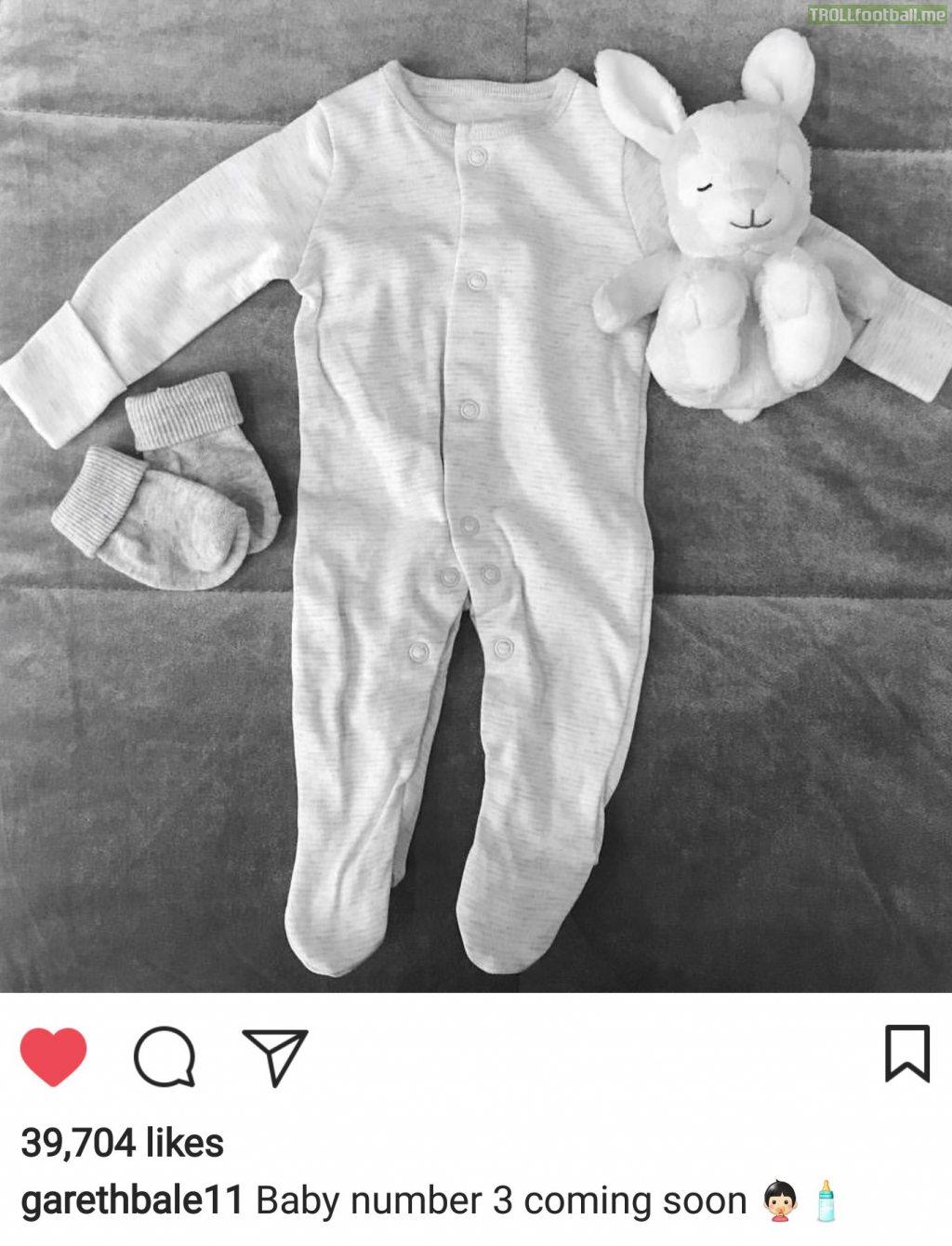 Gareth Bale announces Third Child
