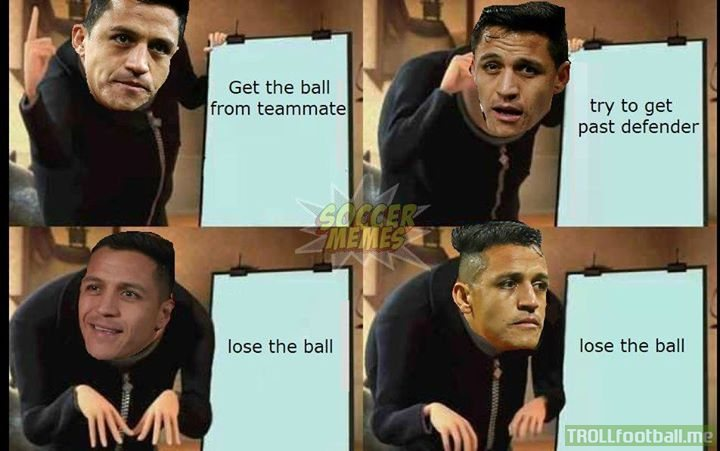 It's been that kind of season for Alexis Sanchez