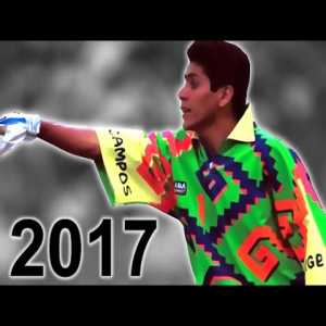 Jorge Campos, the 1,75m Mexican international keeper who would sometimes play outfield.