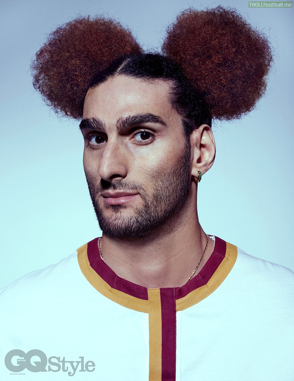 Marouane Fellaini's new hairstyle is... well... interesting!