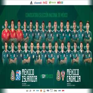 Mexico squad for friendlies against Iceland and Croatia