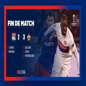 Olympique Lyonnais exit the Europa League at the Round of 16.