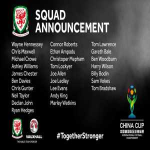 Wales squad for China Cup