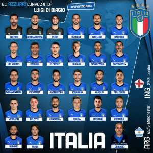 Italy squad for friendlies against Argentina and England - Buffon's back