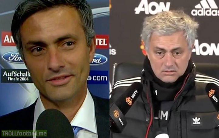 Man United has aged Jose Mourinho just a tad.
