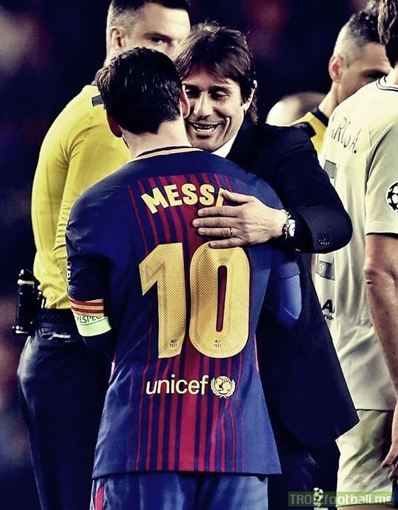 """""""This type of player is born once every 50 years."""" -Antonio Conte on Lionel Messi"""