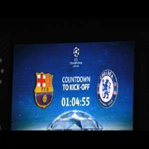 UEFA Champions League: FC Barcelona - Chelsea FC 3:0 all goals with my camera...
